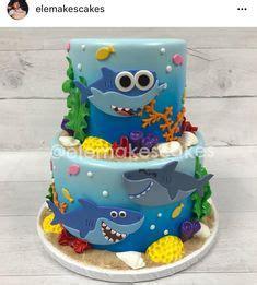 Topper Baby Shark Mini Doo Doo Set baby shark birthday cake 05 28 2017 sweet tooth cakery by alisha barlow shark