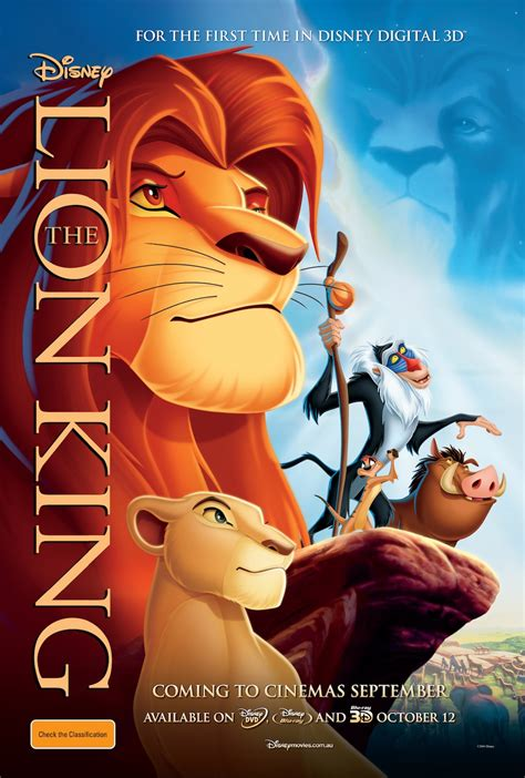 film cartoon lion king the lion king 3d poster the reel bits