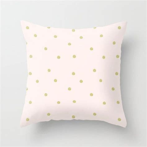 Nursery Throw Pillows by Pink Pastel Pillow Cover Throw Pillow Gold Yellow Dots