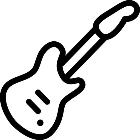 Guitar Clipart Outline by Electric Guitar Icon Line Iconset Iconsmind