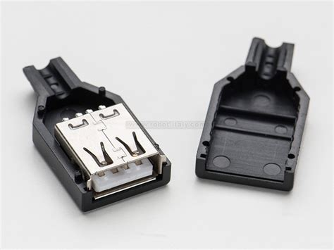 Soket Socket Usb Type A 4 808200 usb diy connector shell type a socket da