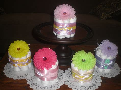 how to make a cake centerpiece for baby shower flower baby shower centerpieces mini cakes different