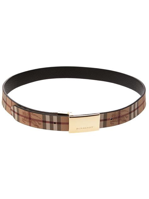 burberry calf leather belt in black for lyst