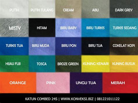 Kaos Polos Katun Cotton Combat 30s Warna katalog warna cotton combed 24s katun combed konveksi
