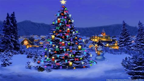 christmas tree with house wallpaper wallpapers for desktop 1920x1080 64 images