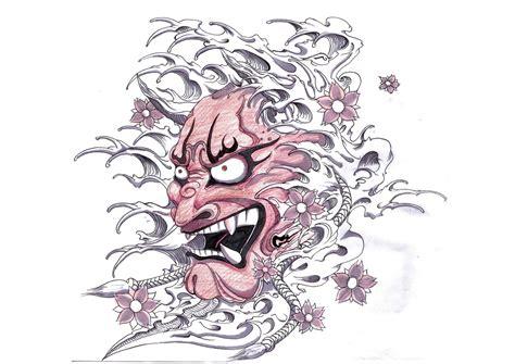 japanese hannya mask tattoo designs hannya mask tattoo