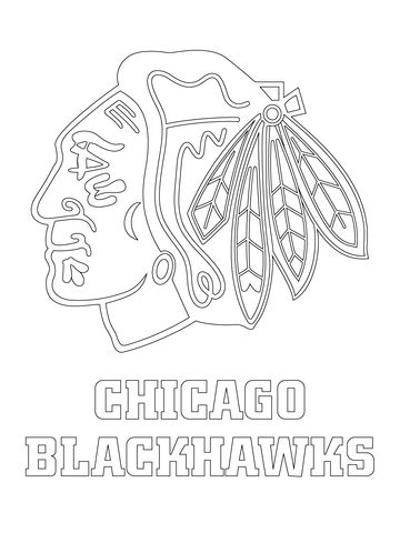 Chicago Blackhawks Logo coloring page   Free Printable