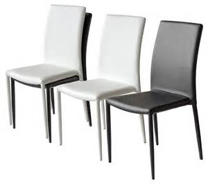 Stackable Leather Dining Chairs Pair Of Contemporary Faux Leather Stackable Dining Chairs
