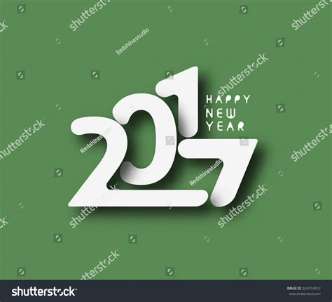 happy new year text vector happy new year 2017 text design stock vector 524914012