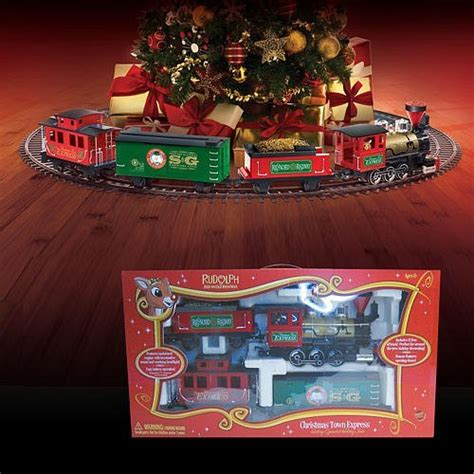rudolph the red nose reindeer christmas tree train it s