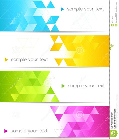 abstract design banners vector free download abstract color banner royalty free stock photo image
