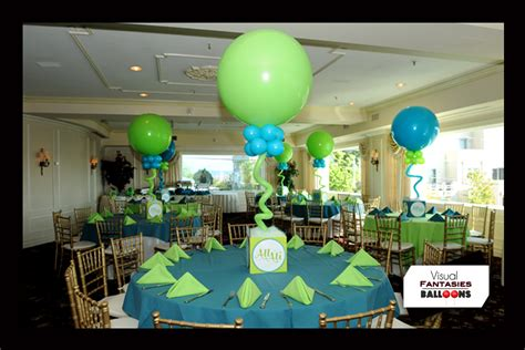 Mint Green Baby Shower by Balloon Centerpieces Visual Fantasies Balloons