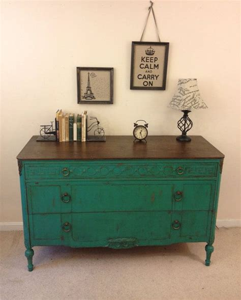 chalk paint vintage furniture on hold rustic chic antique turquoise dresser painted