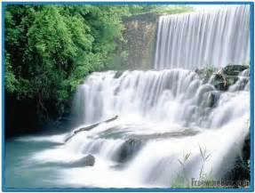 Moving waterfall screensaver with sound   Download free