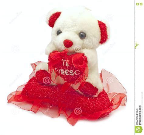 con il cuscino orso dell orsacchiotto con ti amo il cuscino fotografie