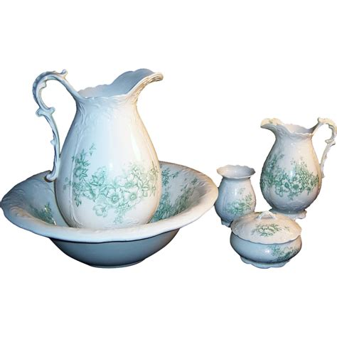 bathroom jug and bowl set antique homer laughlin bridal bowl pitcher bath set from