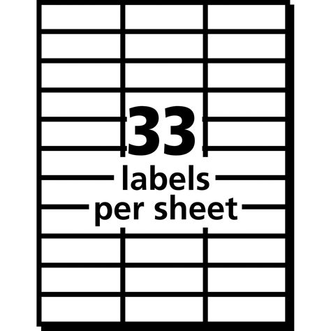 33 Labels Per Sheet Template ave5311 avery mailing labels for copiers office advantage