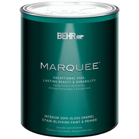 gloss paint behr marquee 1 qt deep base semi gloss enamel interior