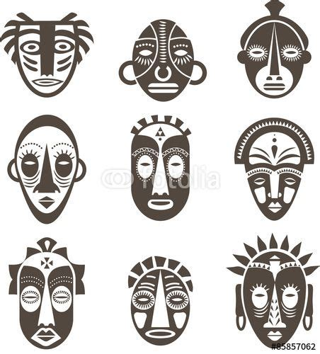 zulu tattoo prices download the royalty free vector quot african masks set