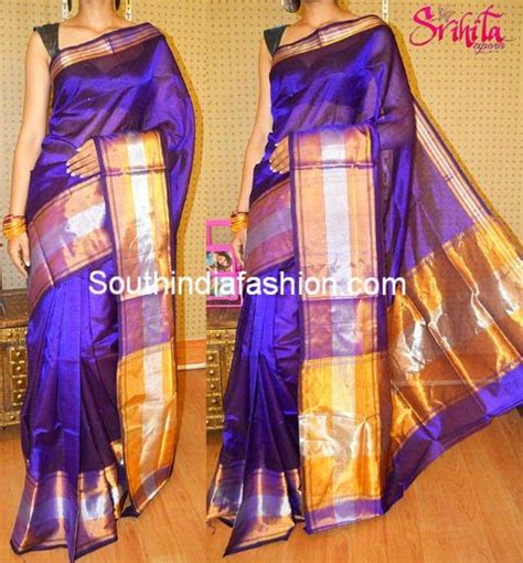light weight sarees online india purple light weight silk saree south india fashion