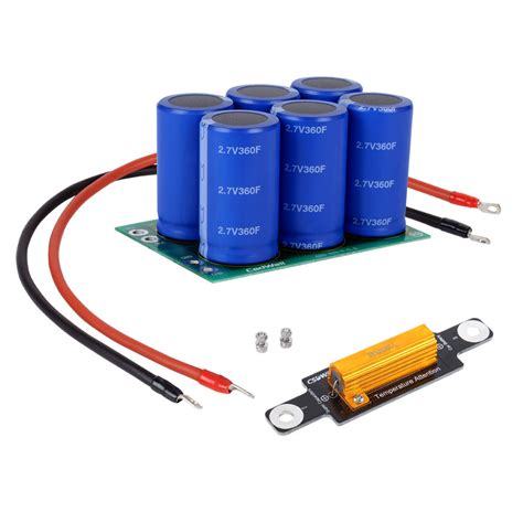 ultra capacitor in parallel with battery ultra capacitor capacitor module 16v 60farad starting car audio ebay