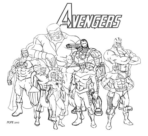 simple avengers coloring pages the avengers wip by hulkdaddyg on deviantart