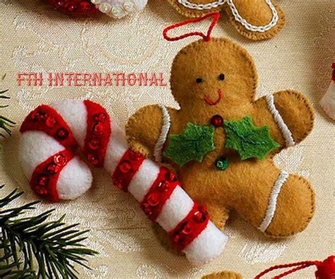 make it and bake it christmas ornaments kit bucilla cookies felt ornament kit 86148 6 santa baking felt ornaments