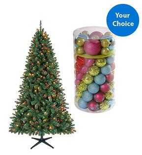 walmart christmas tree coupon walmart tree deals 6 5 foot pre lit tree ornament set for only 38 free shipping