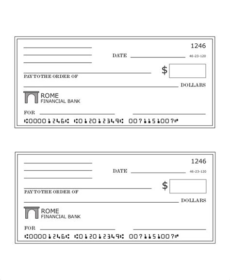Blank Check Template 7 Free Pdf Documents Download Free Premium Templates Blank Check Template Pdf