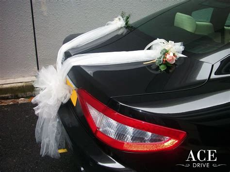 peach car maserati granturismo wedding cars decorations