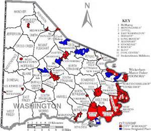 Washington Pa Map by File Map Of Washington County Pennsylvania With Municipal