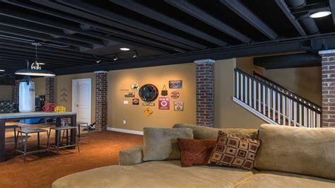 basement ceiling lighting ideas cheap modern ceiling lights exposed basement ceiling