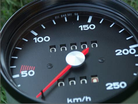 Porsche 911 Tacho by Vdo 250 Km H Speedometer Vintage Racing Restored