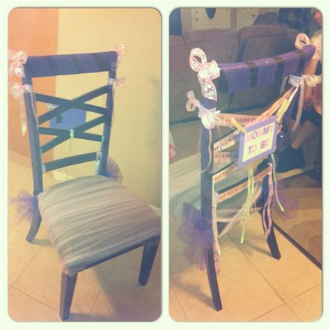 baby shower chair for in quot to be quot i used