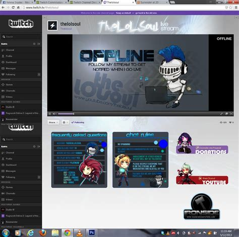 twitch layout artist twitch channel design for thelolsoul by ciael on deviantart