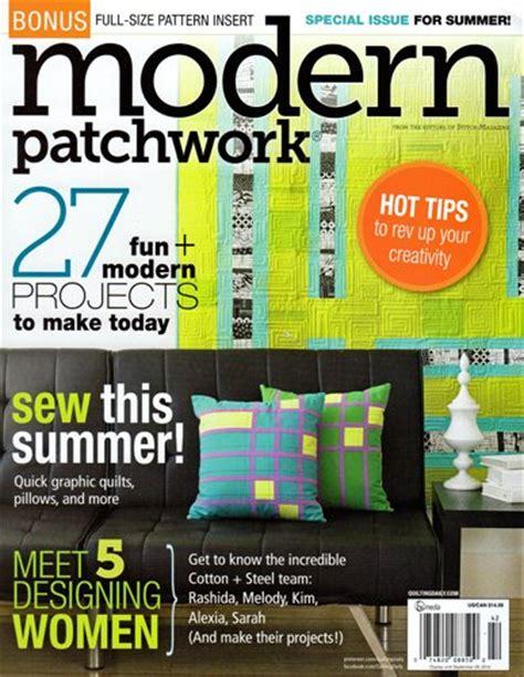 Modern Patchwork Magazine - modern patchwork magazine summer 2014