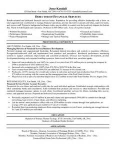 exle director of financial services resume free sle free director of financial services resume exle