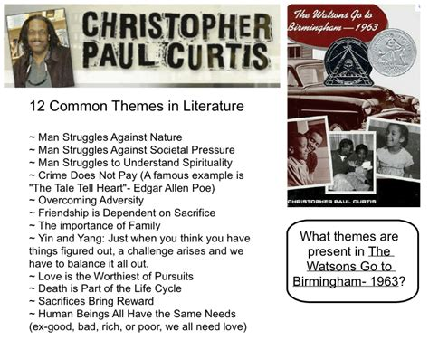 theme exles for books more themes in literature classroom inspiration and
