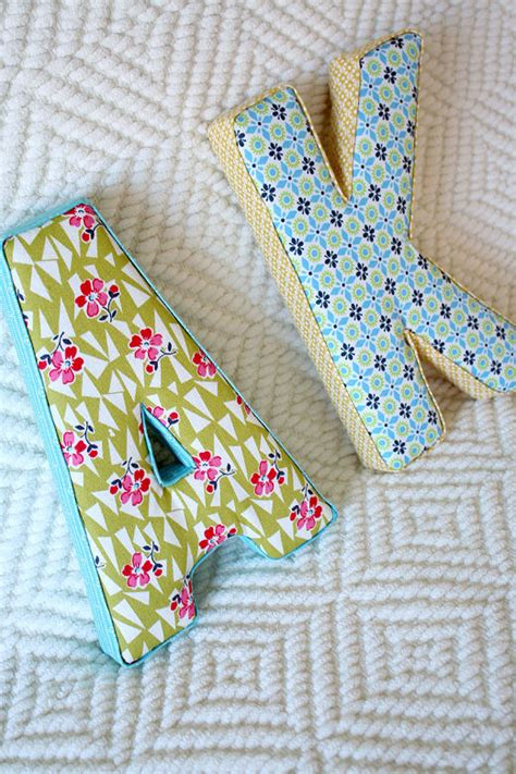 fabric covered letters creative fabric letter accessories