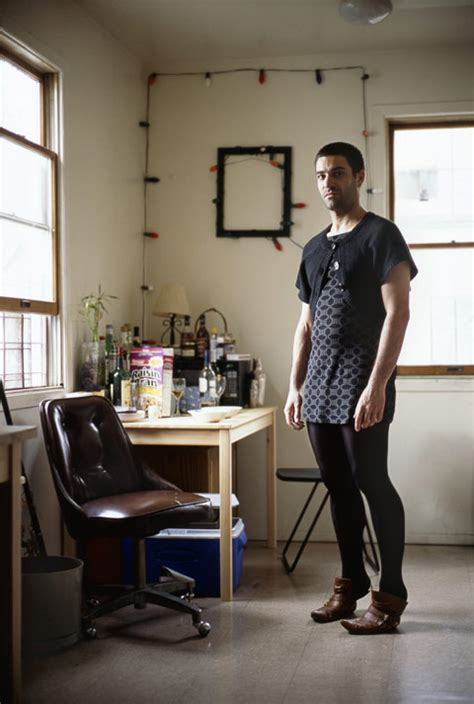 portraits of wearing their girlfriends clothes