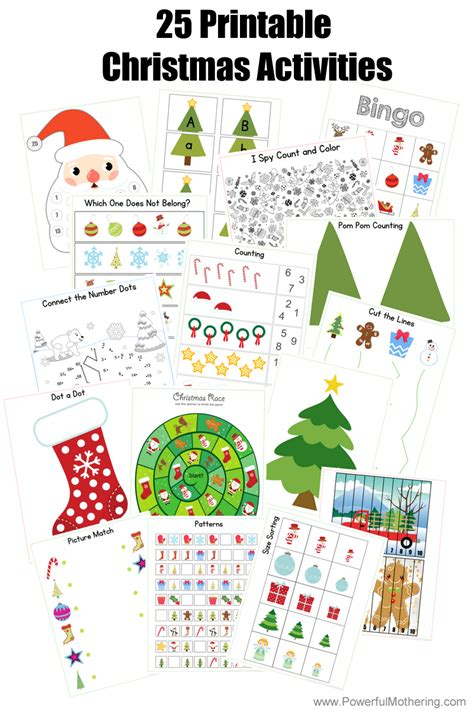 christmas activities for kids 25 printable activities for preschoolers and toddlers