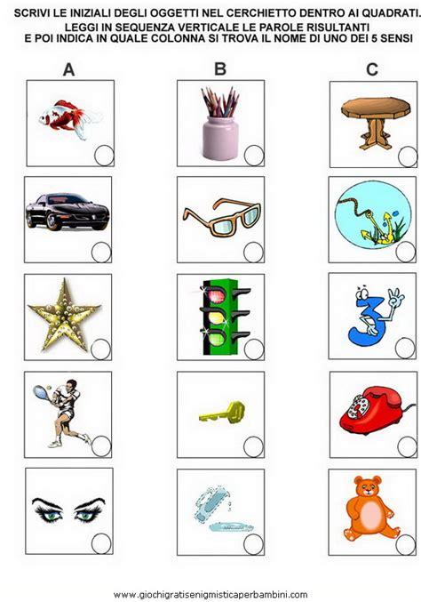 formare parole con queste lettere i 5 sensi il tatto g enigmistica per bambini e ragazzi