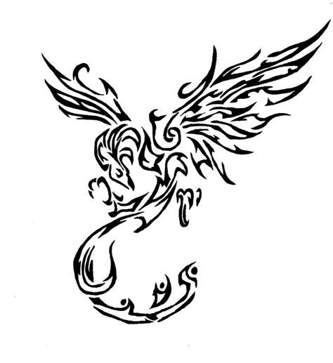 tribal phoenix tattoo images cool tribal stencil