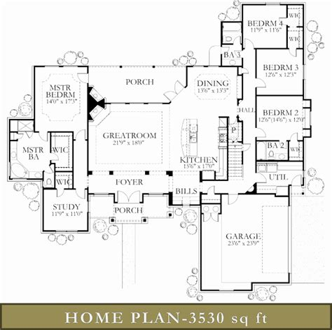 4000 square feet ranch house plans 4000 square feet