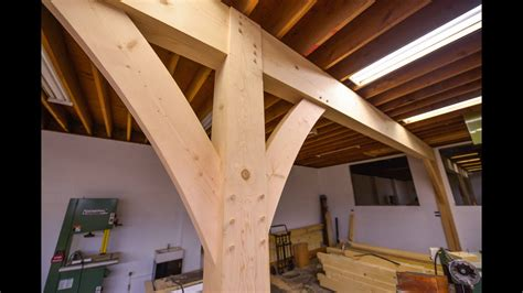 install huge beams  joinery youtube