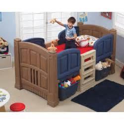 Children S Bed At Walmart Step2 Boys Loft Storage Bed Walmart