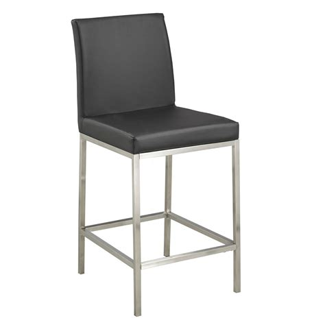 Counter Chairs by Black Leatherette Counter Chair Xcella