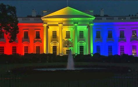 White House In Rainbow Lights After Scotus Marriage Equality Www Ajc Com
