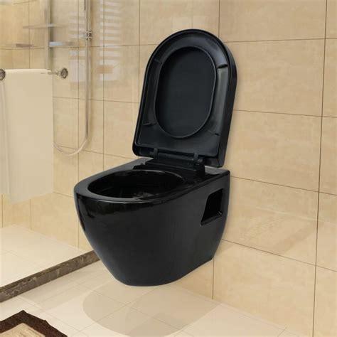 black toilet vidaxl wall hung toilet with cistern ceramic black