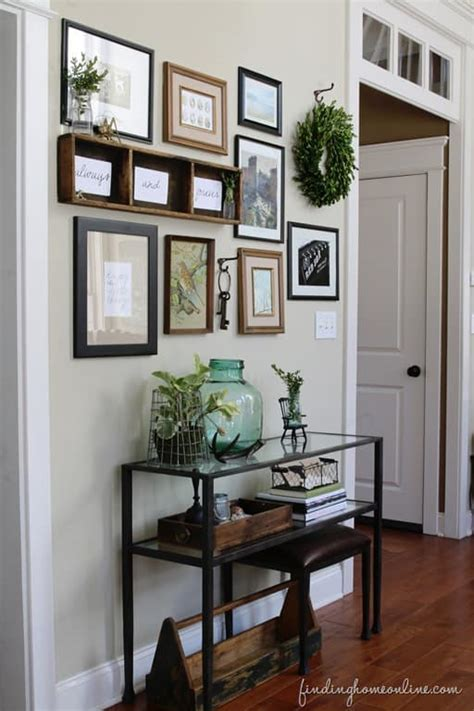 Kitchen Gallery Wall by Decorating With Boxwood Wreaths